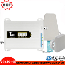 Mobile Booster Tri band Signal repeater 900 1800 2100 GSM Repeater Tri Band verstärker ALC/MGC cellular Signal Booster 2g 3g 4g