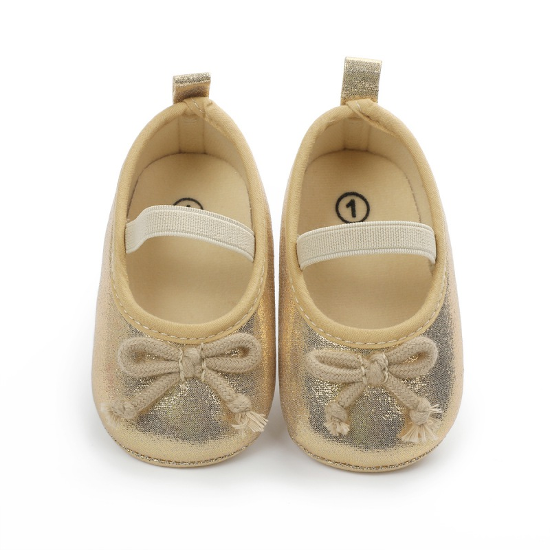 0-18M Spring/Autumn Kids Baby PU Shoes Girls Buckle Strap Bowknot Soft Bottom Non-slip Toddler Shoes New Style