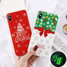цена на Moskado Merry Christmas Phone Case For iphone XS Max XR X 6 6S 7 8 Plus Soft Xmas Tree Red Socks Gift New Year Back Cases Cover