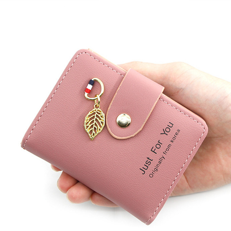 2020 New Women Card Wallet Leather Mini Cute Credit Card Holder Coin Purse Multi-function Card Case Gift For Girls Drop Shipping