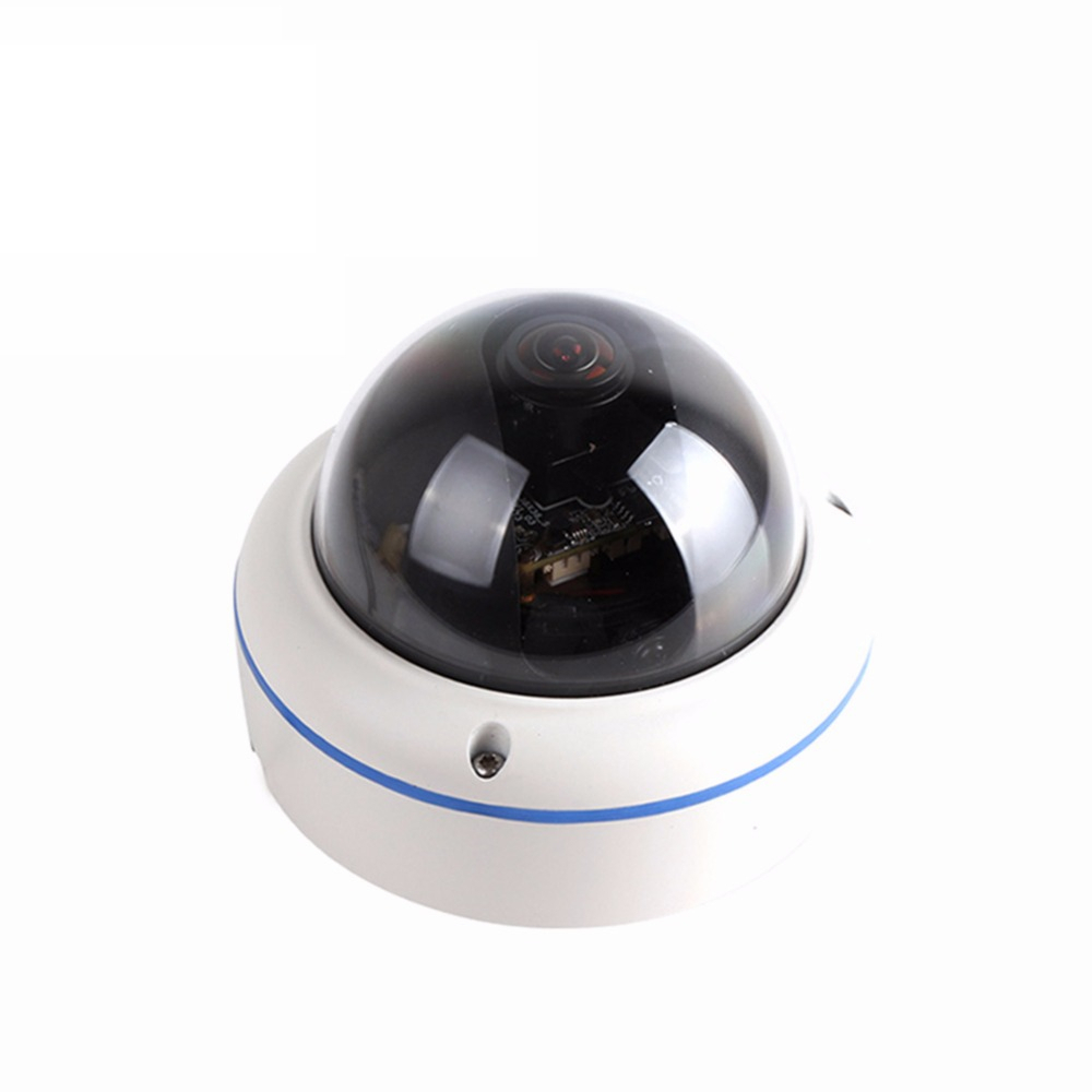 2MP Starlight Fisheye Camera 180 Degree 1.7mm Lens Color Night Vision 0.0000lLux Illumination Home Network Camera POE
