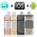 OTG USB флэш-накопитель для iPhone X/8/7/7 Plus/6/6s/5/SE ipad металлическая Флешка HD карта памяти 8 ГБ 16 ГБ 32 ГБ 64 Гб 128 ГБ флэш-накопитель