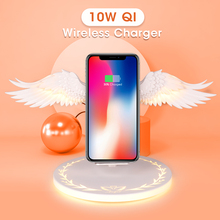 Qi Wireless di Carica Dock 10W Ali di Angelo 3.0 Caricabatterie Rapido di Tipo C Per iPhone X XR 8 Più Smasung s9 S10 Plus Per Huawei P30 Xiaomi
