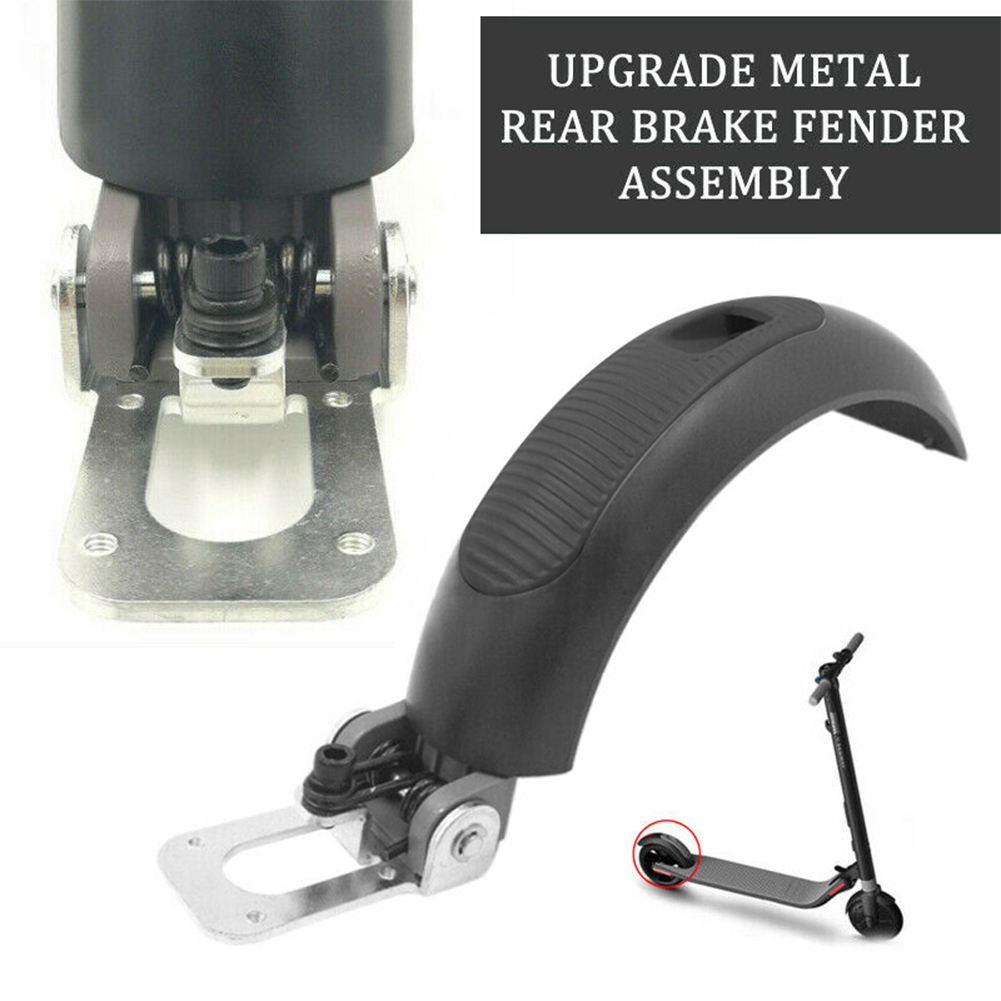 Electric Scooter Mudapron Brake Parts,Upgrade Metal Rear Fender Mudapron Brake Assembly Replacement for Ninebot for Segway ES1 ES2 ES3 ES4 Scooter