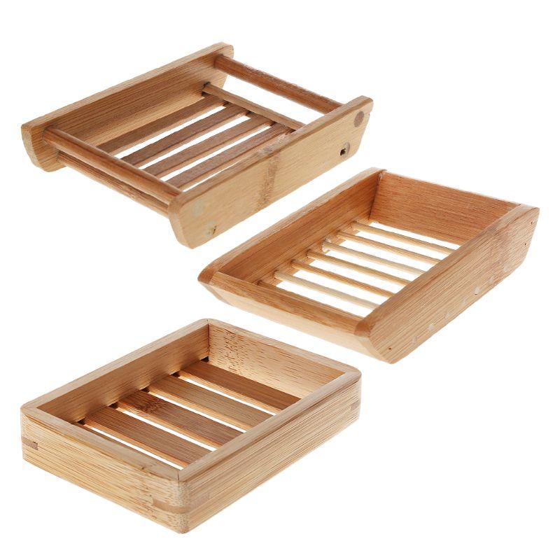 Portable Soap Dishes Creative Simple Bamboo Manual Drain Soap Box Bathroom Bathroom Japanese Style Soap Soap Box G8TB