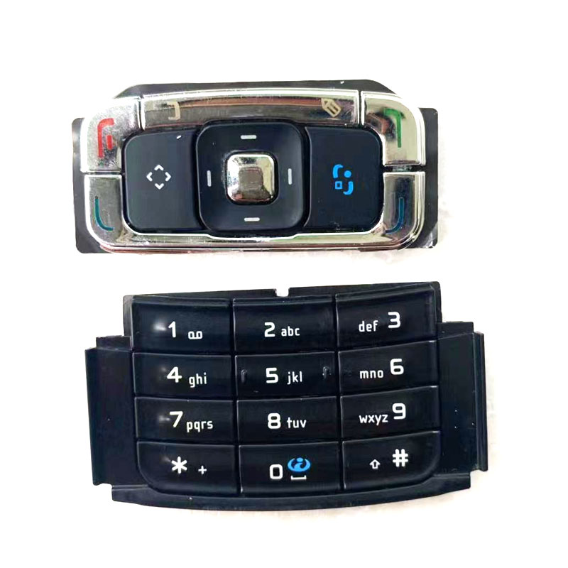 Black/White Ymitn New Housing Cover Case Keyboards Keypads Main Function Buttons For Nokia N95 , Free Shipping