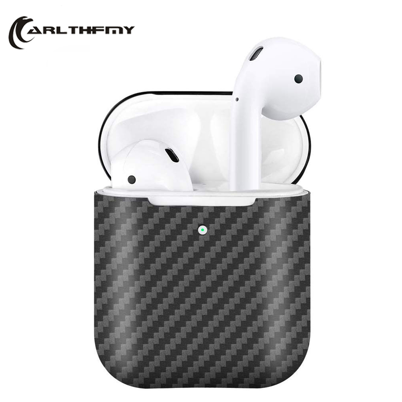 2020 New For AirPods Pro 2 Real Carbon Fiber Case Slim-Fit  Wireless Charging Protective Cover Case for Apple for Airpods 2