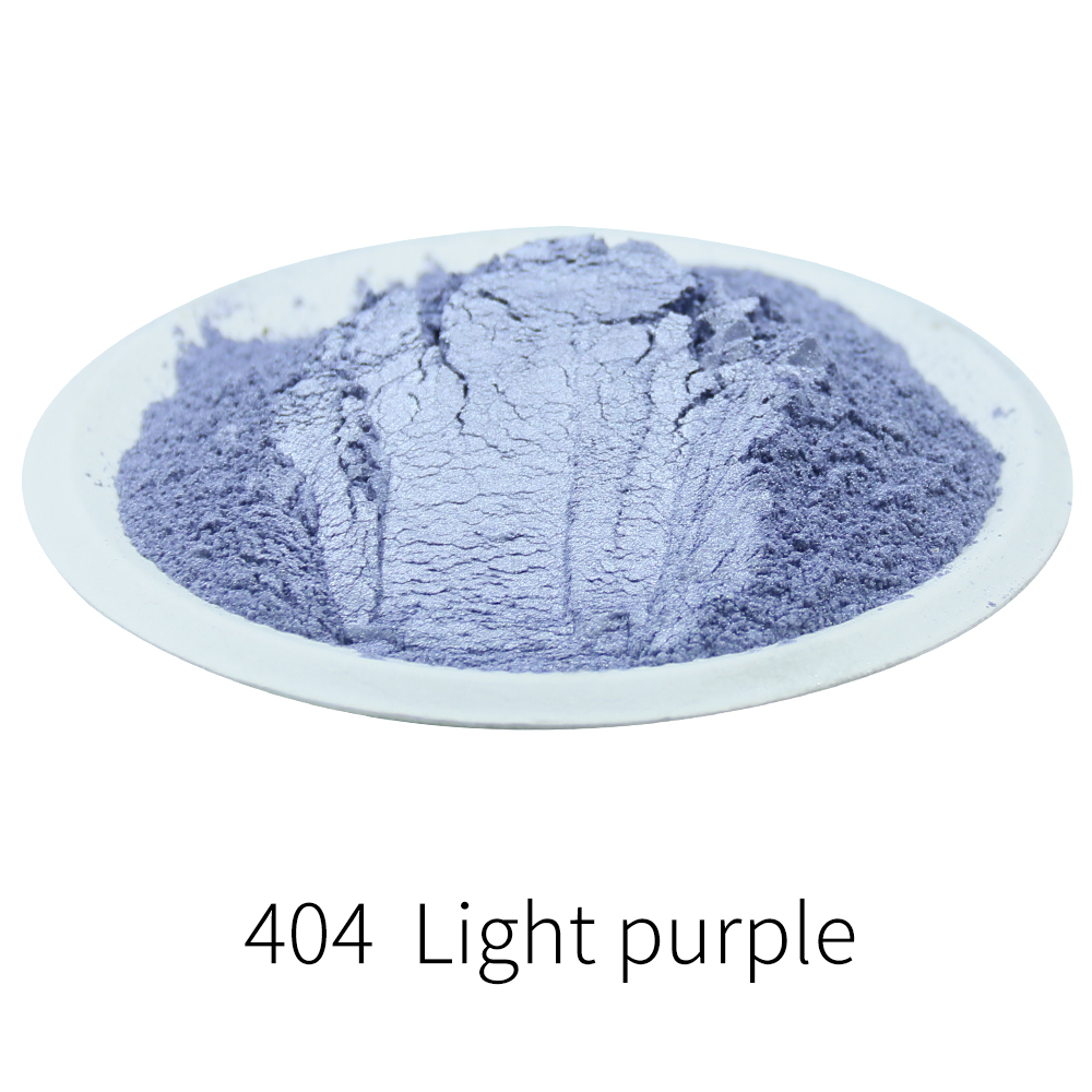 Light Purple Mineral Mica Powder 50g Type 404 Pigment For Dye Colorant Soap Automotive Art Crafts DIY Pearl Powder Acrylic Paint