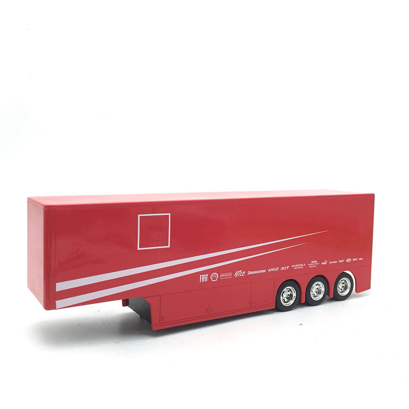 28CM 1/43 Transporter Trailer Fitting Diecast Truck Modify Toy Model Trailer Adult Collection Office Decoration (No Back Door)