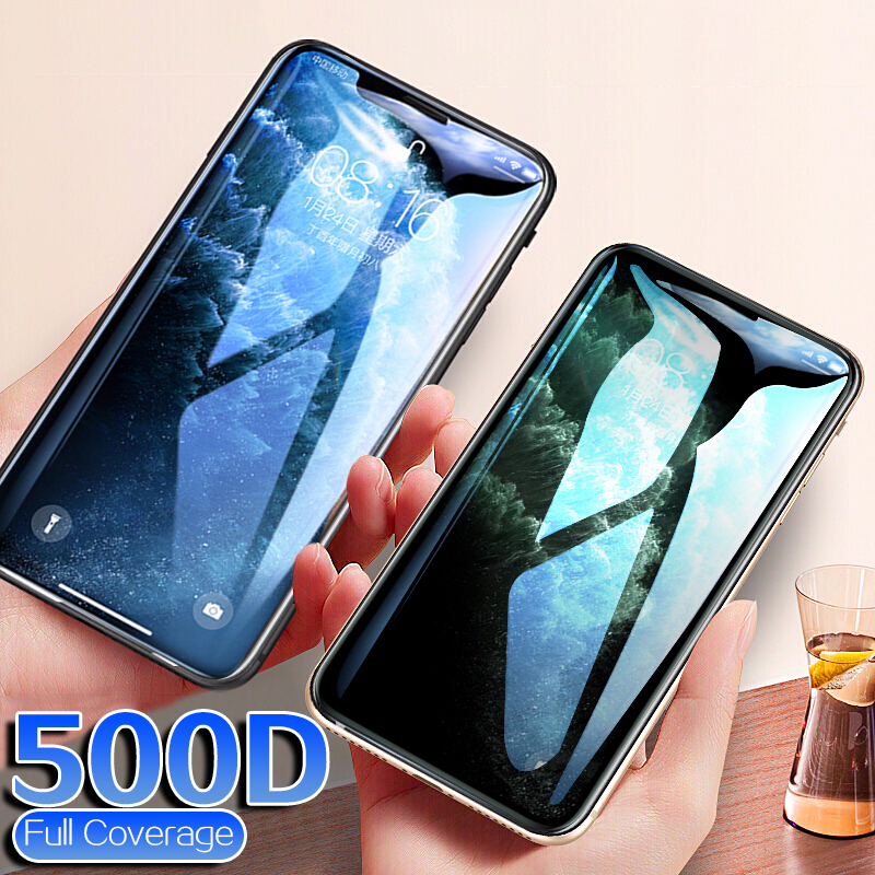500D Protective Glass On The For iPhone 11 Pro X XS MAX 11 Glass Full Cover On iPhone 11 Pro Max XR 5 5s Screen Protector Glass image