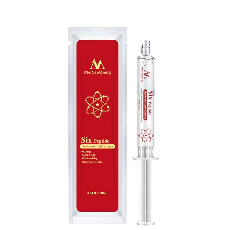 10ml Hyaluronic Acid Six Peptide Face Serum Anti Aging Anti Wrinkle Lifting Face Serum Repair Concentrate Rejuvenation Skin Care