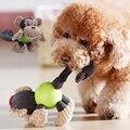 Собака игрушки пищащие вельветовые игрушки плюшевые фигуры животных писк продукты Укус устойчивостью головоломки интерактивные молярная ...