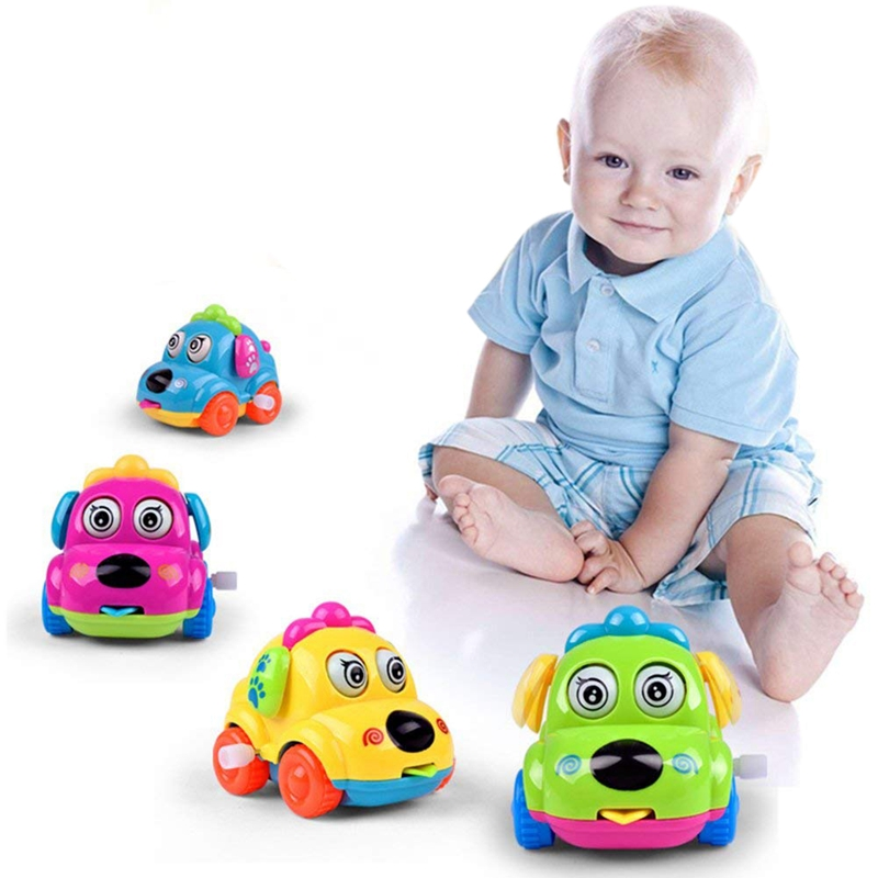 1PC Early Education Baby Toy Wind Up Clockwork Car Toys For Children & Kids Boys And Girls, Random Color
