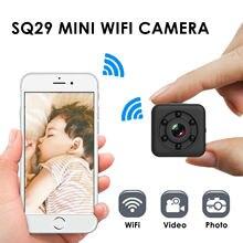 Sq29 monitor de segurança para bebê hd wifi, mini câmera sensor de visão noturna, camcorder, cuidados com o bebê, detecção de movimento