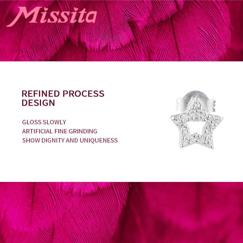 MISSITA 100% 2019 ใหม่แฟชั่น Star Stud Earrings สำหรับผู้หญิงแฟชั่นเครื่องประดับ Hollow Star AAA Zircon ชีวิตประจำวันของขวัญ