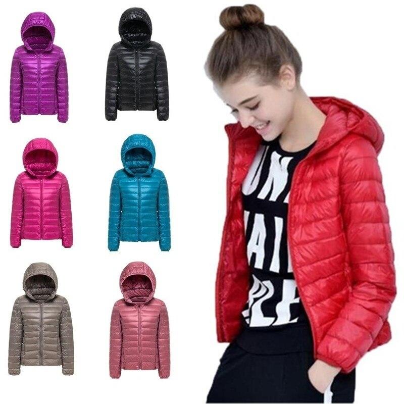 ZOGAA, Женская Весенняя парка, куртка, пальто, теплый ультра светильник, пуховик на утином пуху, стеганая куртка, Женское пальто, тонкое однотон...