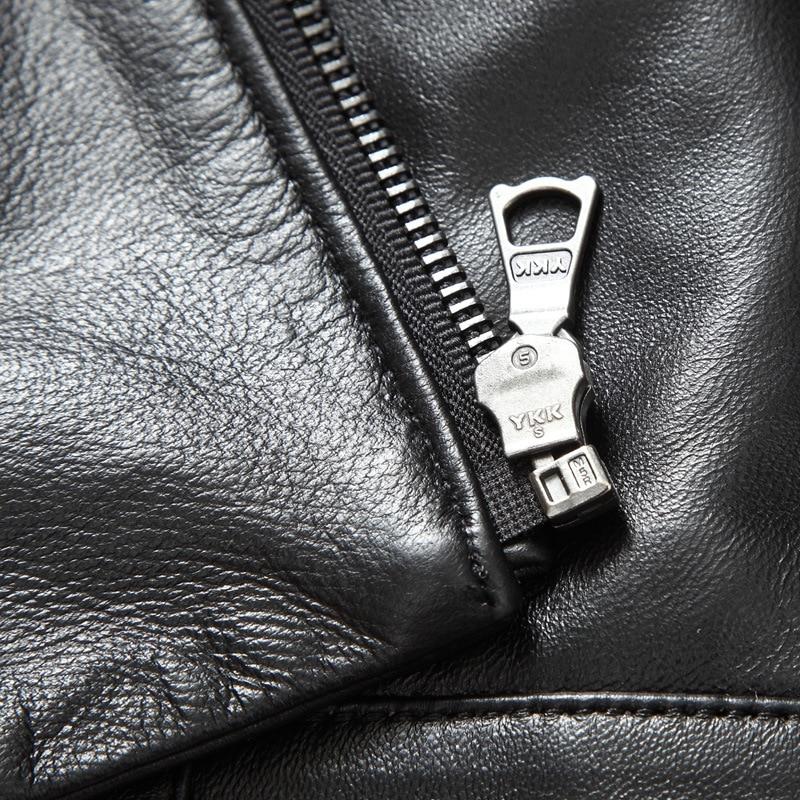 Anti-Season Haining Leather Coat Men's Locomotive Leather Jacket Men's Genuine Leather Middle-aged Slim Fit Thin Men Fur Coat Ha