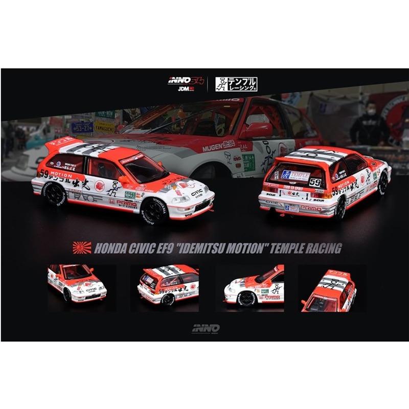 INNO 64 Scale 1/64 JDM Honda Civic EF9 Idemitsu Motion - Temple Racing Japan Domestic Market Die-cast Model Car