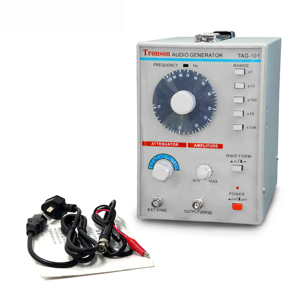 AC 100-240V TAG-101 Low Frequency Audio Signal Generator Signal Source 10Hz-1MHz Y