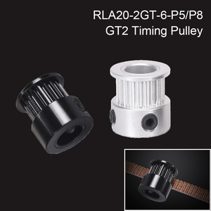 GT2 шкив для 3D принтера, части 2GT 20 зубьев, Алюминиевый диаметр 5/8 мм, синхронное колесо, зубчатый ремень GT2 для GATES-LL-2GT ремня