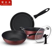 Набор кастрюль комбинированный набор из трех предметов Wok Sootless антипригарный набор кастрюль комбинированная посуда для приготовления пищи