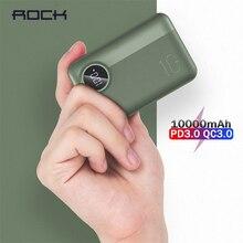 ROCK Mini Power Bank 10000mah 18W Type C PD QC 3.0 QI Wirele