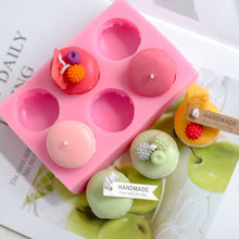 Handmade DIY Materials Homemade Creative Baking Cake Decoration Macaron Scented Candle Silicone Mold