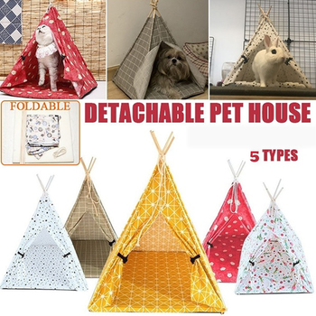Dog House Tent Pet House Foldable Cat House Outdoor Portable Dog Crate Cat Cage Kitten Bed Dog Bed Kennels Crate домик для собак