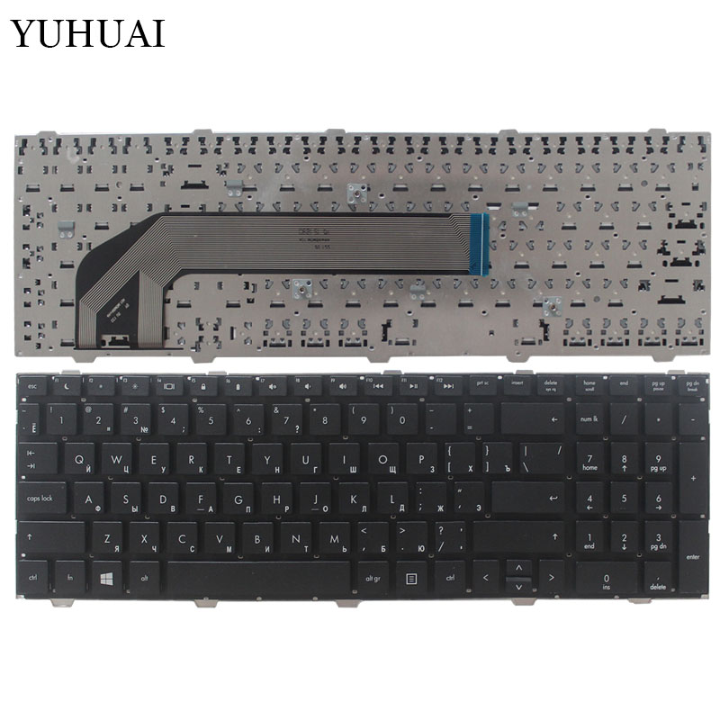 New Russian Laptop keyboard For HP probook 4540 4540S 4545 4545S 4740 4740S noframe Black RU keyboard-in Replacement Keyboards from Computer & Office on