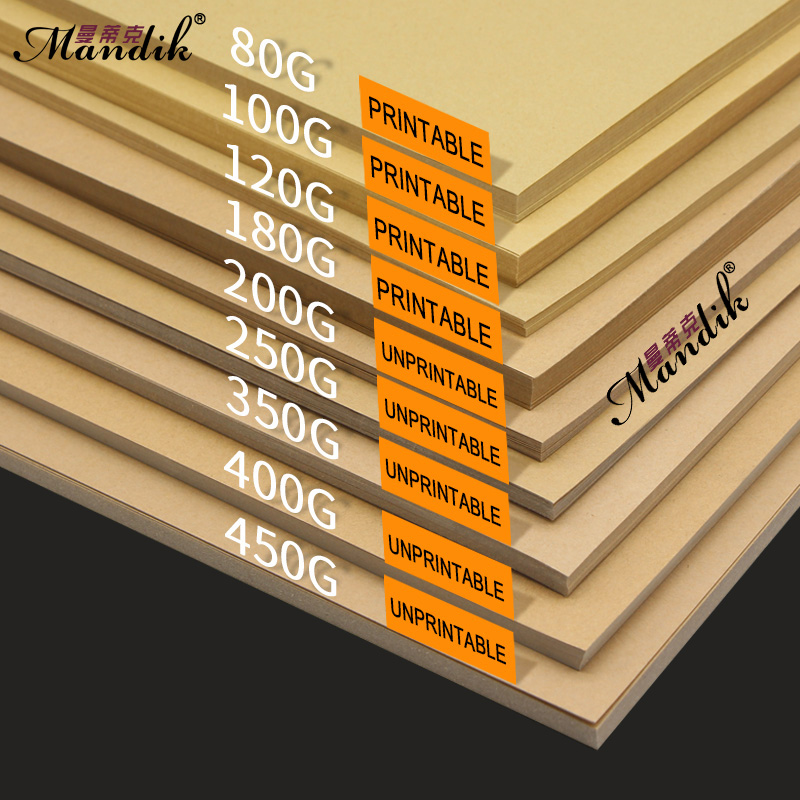 80-250gsm 50/100pcs Gift Packaging Paper Brown Kraft Paper