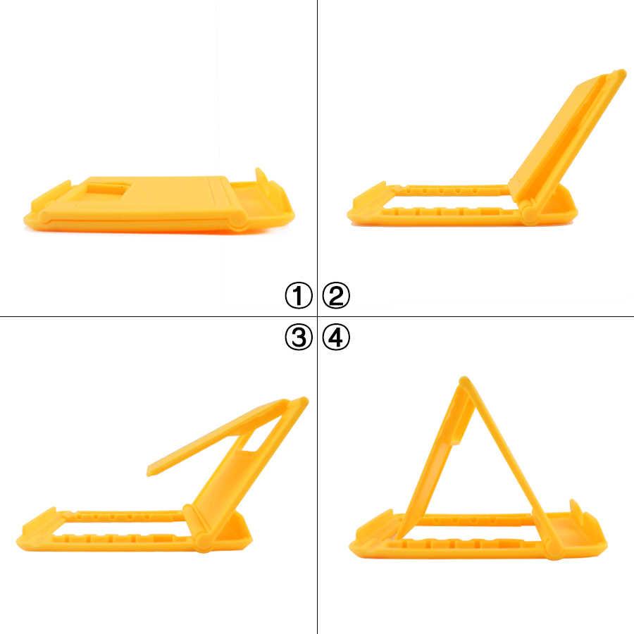 7 Warna Ponsel Meja Stand Universal Ponsel Pemegang Tripod Lipat Meja Plastik Pemegang Stand untuk Ponsel Tablet PC