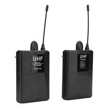 مكبر صوت لا سلكي ذو تردد فوق العالي لكاميرا الهاتف الذكي Lavalier Mic 20 قناة Bodypack جهاز ريسيفر استقبال وإرسال نظام ميكروفون UHF