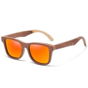Image 5 - GM Polarisierte Skateboard Holz Sonnenbrille Männer UV400 Designer Sonnenbrille Brillen Gafas De Sol De Los Hombres Polarizados S4832