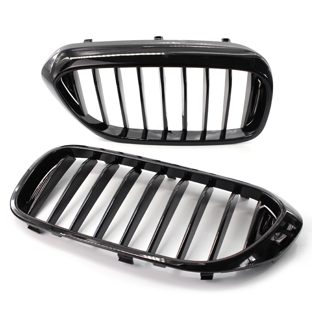 Hot New 2Pcs Bright Black Front Kidney Grille for <font><b>BMW</b></font> <font><b>540i</b></font> 530e G30 G31 2017-2019 51138070469 Single line Car <font><b>Accessories</b></font> image