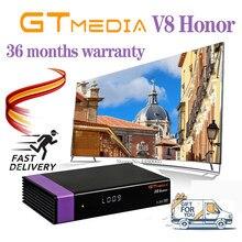 Decodificador gtmedia v8 honra espanha armazém h.265 gt mídia v8 honra mesmo que gtmedia v8 nova/v8x 1080p DVB-s2 receptor de satélite