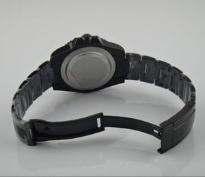 Image 4 - ספיר קריסטל 40mm parnis שחור חיוג אסיה אוטומטית עצמי רוח תנועה bezel GMT זוהר PVD מקרה גברים של שעון 167 8
