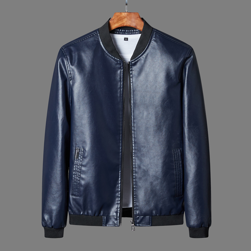 Autumn Winter Men's Leather Coat Korean Slim Fit Leather Jackets Plus Size 8XL Fashion Casual Outwear For Man Jacket Motorcycle