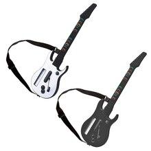 وحدة تحكم لاسلكية مع حزام قابل للتعديل لجيتار Wii ، Hero ، Rock Band 2 3 ، ألعاب ، أبيض وأسود