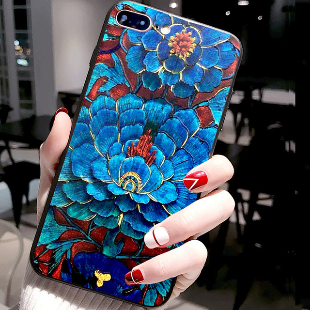 For OPPO F1 Plus Case 3D Flower Emboss Silicone Phone Cases For OPPO A31 Cover Realme X2 Pro Case Relief A 31 2020 Realme 5i