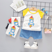 2019 Summer Baby Girls Boys Clothing Sets Infant Clothes Suits Cotton T Shirt Shorts Kids Children Casual Costume Kids Suit casual summer gentleman style kids boys clothing sets cotton sling strap costume shirt short jeans boys clothes suits