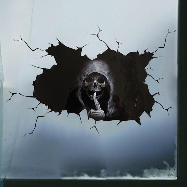 Miếng Dán Kinh Dị Dán Tường Đầu Lâu Happy Halloween 5