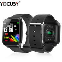 YOCUBY Z02 Smart Watch Color Screen Sport Pedometer Heart Rate Monitor Message for IOS Android Fitness Tracker Smart Wristband