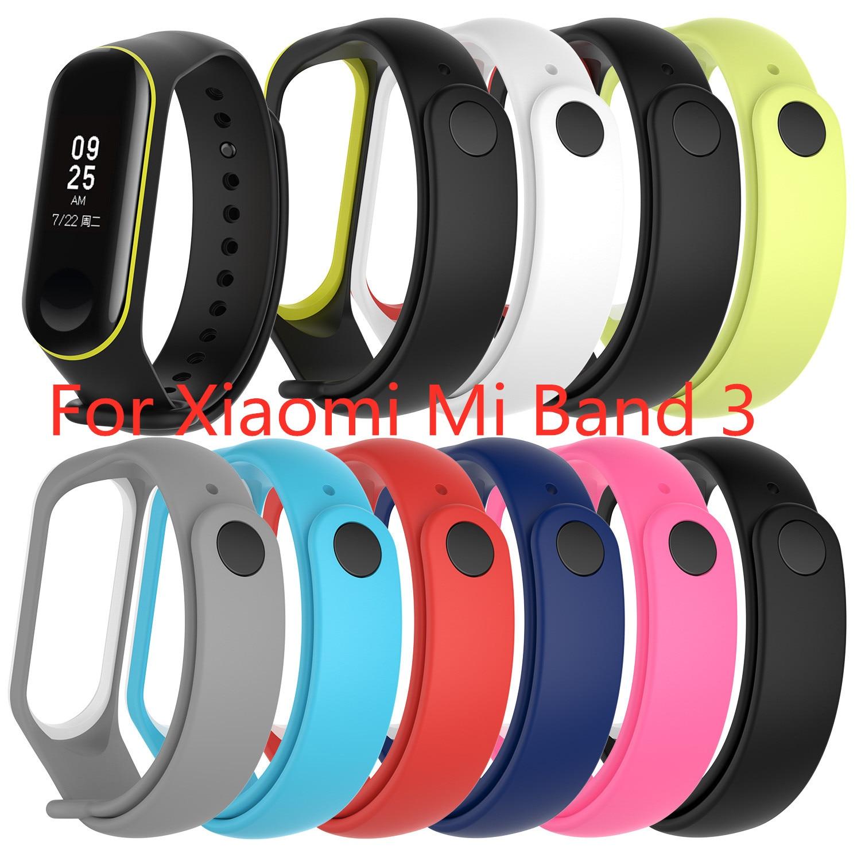 Multicolor For Xiaomi Mi Band 3 Bracelet Strap Replacement For Xiaomi Mi Band 3 Sports TPU Wrist Strap Bracelet Smart Accessorie