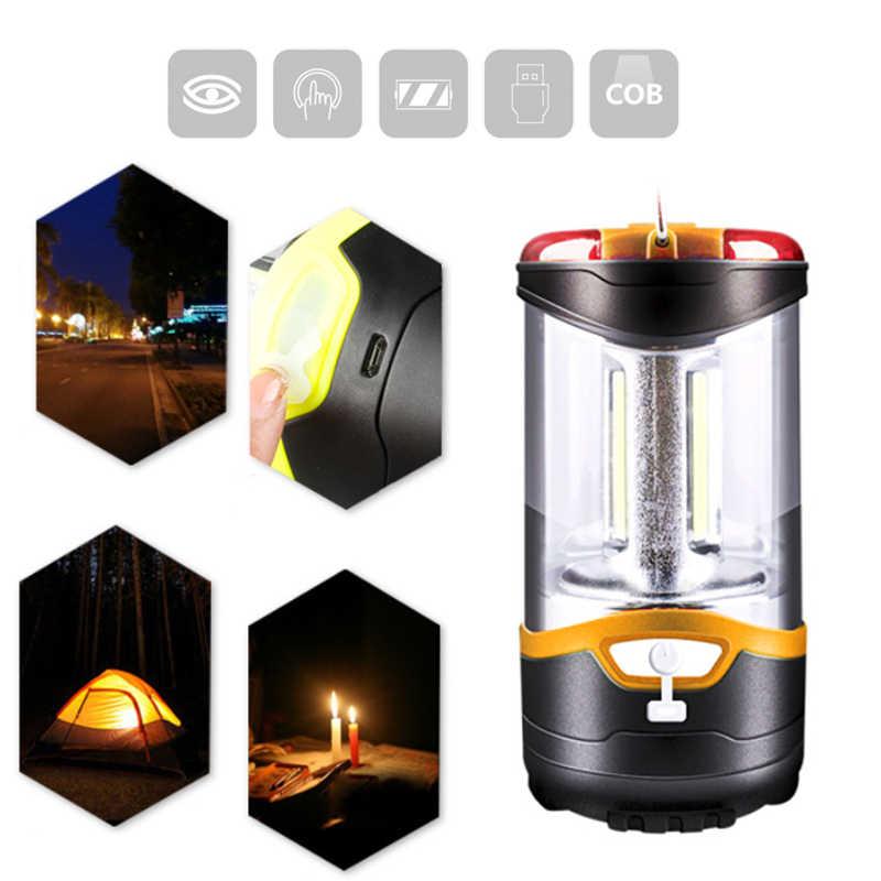Двойная силовая Палатка лампа портативный фонарь 3 режима фонарик для путешествий 10 Вт Пешие прогулки зарядка через usb кемпинговые огни супер яркий открытый
