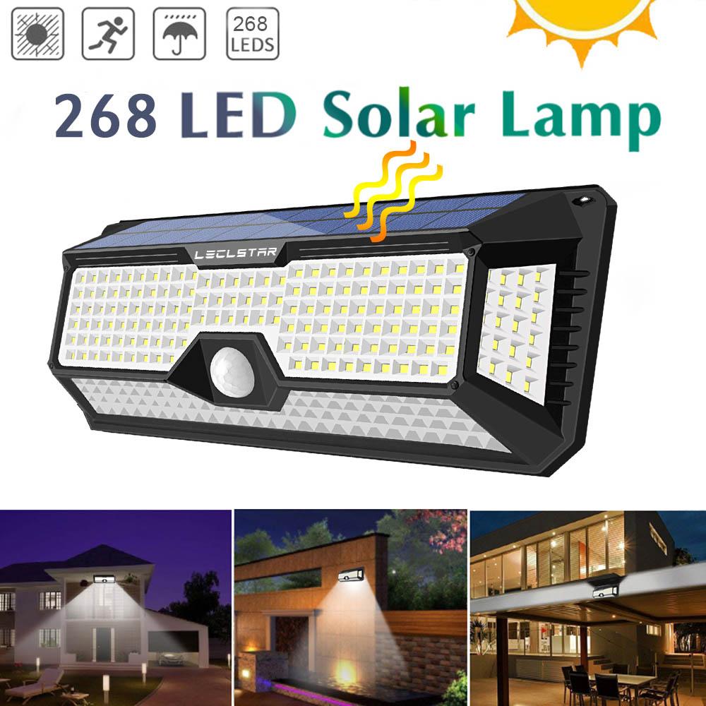 Solar Powered Led Spotlight Outdoor Garden Decoration Waterproof 118/128/268 LED Flood Lights With Motion Sensor IP65 Floodlight