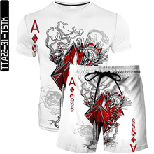 Summer Poker 3D Printed Men s T shirt Shorts Set Men s Sportswear Tracksuit O Neck Casual Short Sleeve Male Suit