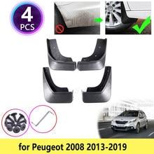 Peugeot 2008 için 2013 2014 2015 2016 2017 2018 2019 çamurluklar çamurluk çamurluk seti Flap Flaps Splash muhafızları ön aksesuarları