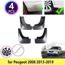 Para Peugeot 2008, 2013, 2014, 2015, 2016, 2017, 2018, 2019 guardabarros Mudflap Fender conjunto barro solapas Splash guardias frente Accesorios