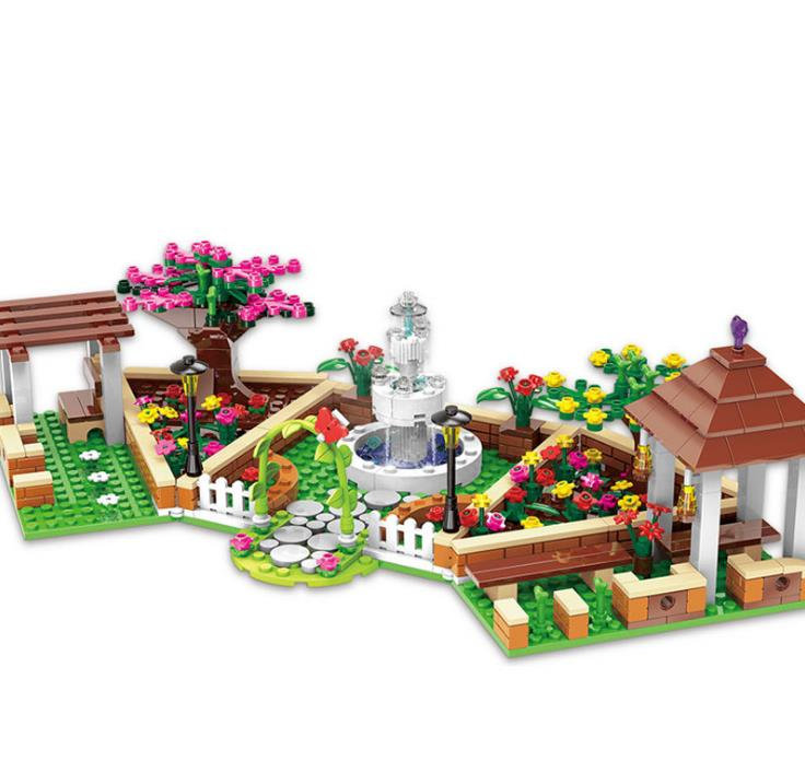 Ciudad chica serie la esquina de la escuela conjunto bloques de construcción niños Diy ladrillos juguetes educativos regalos para niños Xingbao 12004
