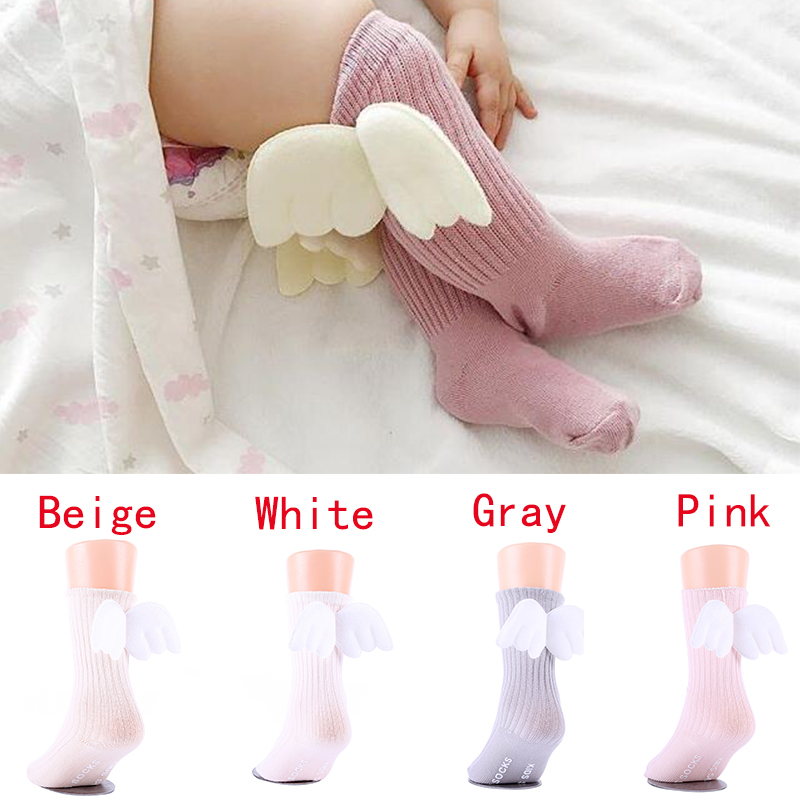 Infant Toddler Newborn Baby Girl Cute Socks Wings Design Soft Sole Sock Anti-slip Floor Socks